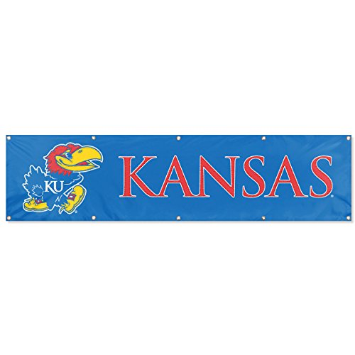 Party Animal Kansas Jayhawks NCAA Applique & Embroidered Party Banner (96x24