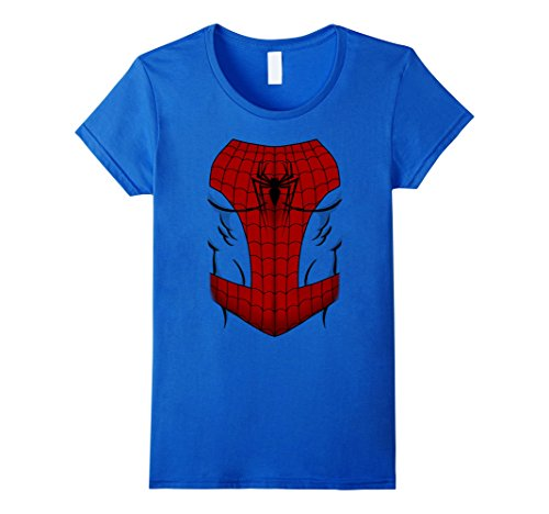 Women's Marvel Ultimate Spider-Man Cosplay Costume Graphic T-Shirt XL Royal Blue
