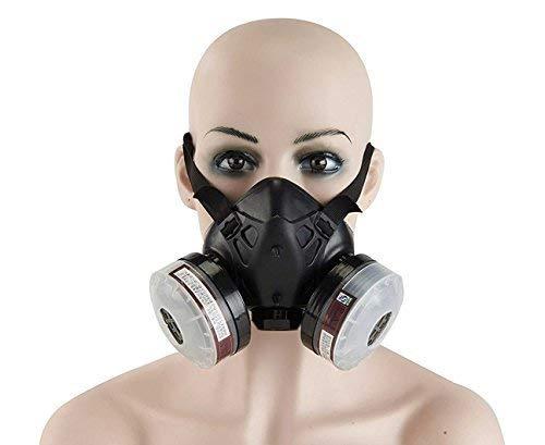 Holulo Paint Spray Respirator Half Face Respirator Anti-Dust Reusable Mask,Organic Vapor Respiratory
