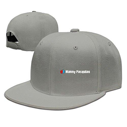 Beetful Manny Pacquiao Logo Adjustable Snapback Hip-hop Baseball Cap Ash