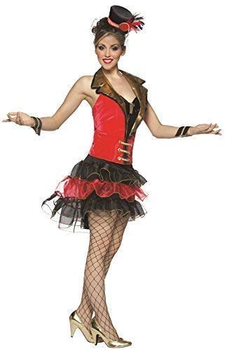 Ladies Sexy Ring Mistress Circus Big Top Carnival Hen Do Night Party Fancy Dress Costume Outfit