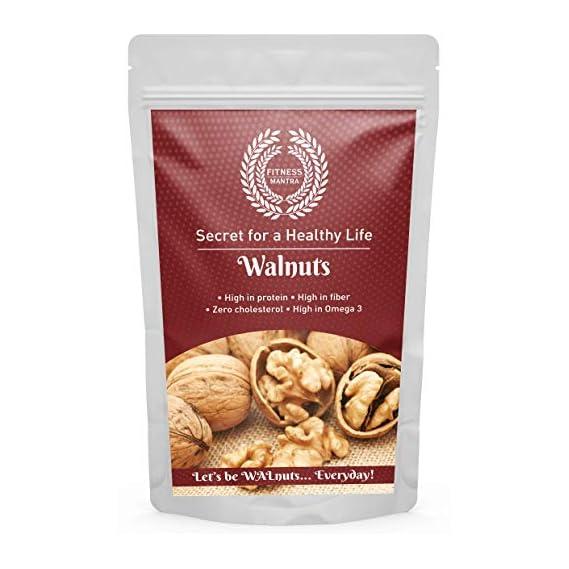 Fitness Mantra Kashmiri Walnuts Without Shell (Kernels) - Akhrot Dry Fruit Pouch, 500 g