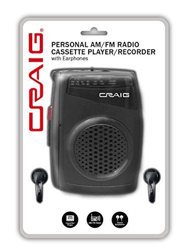 CRAIG CS 2304 Personal AM/FM Radio Cassette Player/Recorder with Earphones