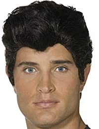 Mens Fancy Dress Party Film & Tv Stars Headpiece False Hair Danny Wig Black