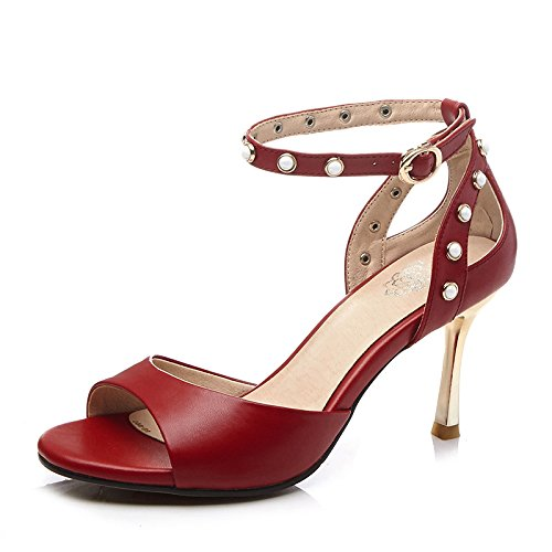 Piel, piel, High Heels Stiletto Heels knöchelriemen Sandalias en verano la hebilla Zapatos de Essen 39
