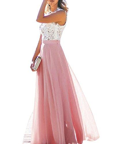 Trapecio Rubor Para Rosa 46 Vimans Mujer Vestido nxqZaT5Xw8