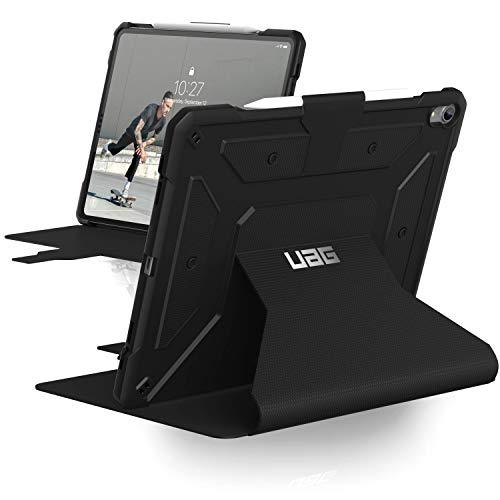 (URBAN ARMOR GEAR UAG Folio iPad Pro 12.9-inch (3rd Gen, 2018) Metropolis Feather-Light Rugged [Black] Military Drop Tested iPad Case with Apple Pencil)