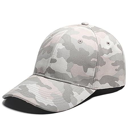 Ajustable Algodón camuflaje béisbol sombrero sol protección visera, Gray Camouflage iHomey