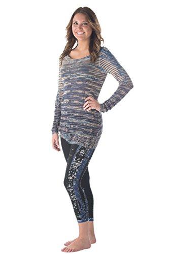 Hard Tail lightweight knit sweater in blue skeleton tie dye (Hardtail Tie Dye)
