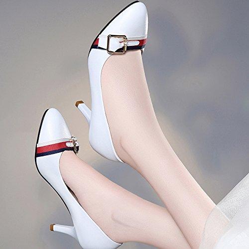 Matrimonio Donna 5 Nightclub Bianco Moda Manodopera Partito Decolleté 6 Uk Centimetri Ragazze Alti Tacchi Nera 39 Sexy eu sette 0qB0RAw