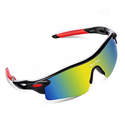MiluoTech Polarized Sports Sunglasses for Men Women Cycling Riding Running Baseball (90s Costumes Australia)