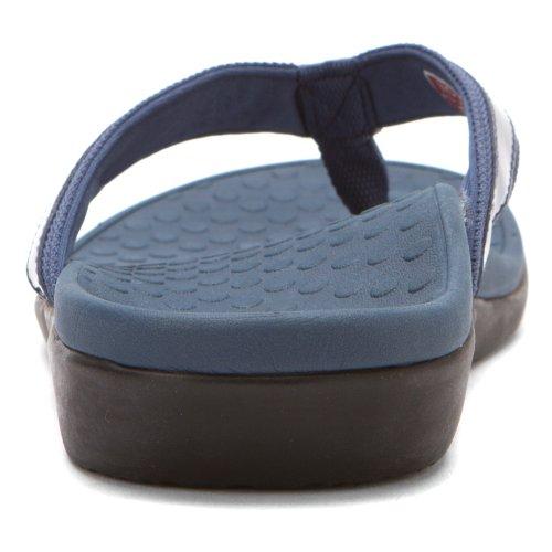 Vionic Thong Leather Sandals Navy 5 0pr0BFwq