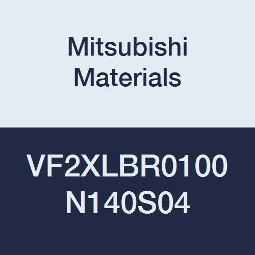 Short Shank Mitsubishi Materials VF2XLBR0100N140S04 VF2XLB Carbide Impact Miracle Ball Nose End Mill 1.6 mm LOC 2 Long Neck Flute 14 mm Neck 1 mm Corner Radius 4 mm Shank Dia 2 mm Cut Dia
