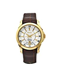 Seiko Men's SNQ118 Premier Brown Leather Perpetual Calendar Watch