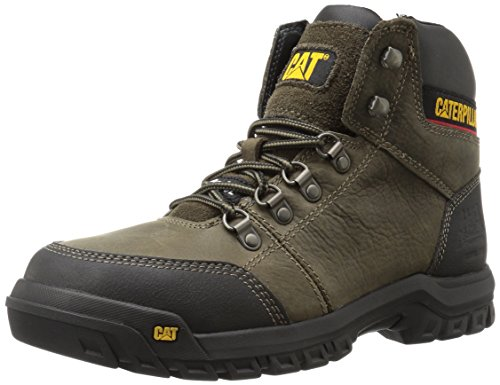 Caterpillar Mens Outline Steel Toe Boot Da Lavoro Dark Gull Grigio