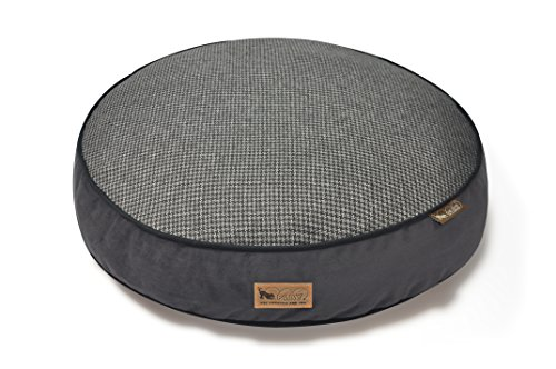 P.L.A.Y. PET LIFESTYLE AND YOU P.L.A.Y. - Houndstooth Round Bed - Medium - Black/Grey