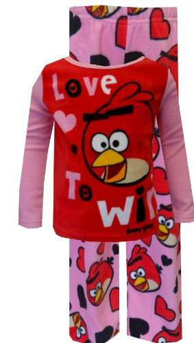 Price comparison product image Angry Birds Girls Size 4-10 ''Love To Win'' Microfleece Pajama Set (6, Pink)