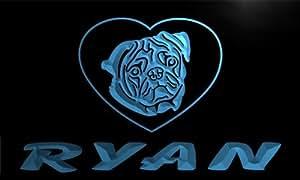 ve049-b Ryan's Pug dog Pet House Custom Neon Light Sign