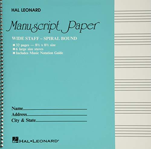 Wide Staff Wirebound Manuscript Paper (Aqua Cover) (PAPETERIE) Spiral-bound – June 1, 1986