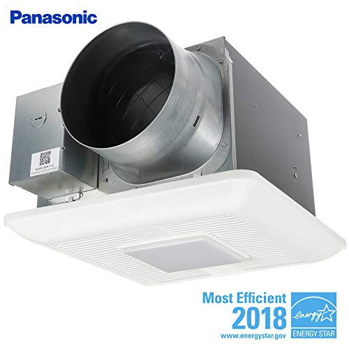 Bathroom Super Quiet Exhaust Fan - Panasonic FV-1115VKL2 WhisperGreen Multi-Flow Bathroom Fan, White