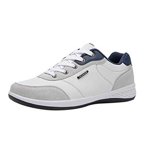 GRIPY Sneakers for Men Fashion Casual Lace Up Leather Sport Running Shoes Breathable Sneakers Sport Shoes for Men