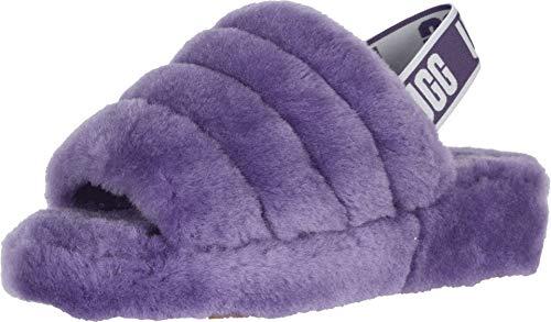 UGG Women's Fluff Yeah Slide Wedge Sandal, Violet Bloom, 7 M US]()