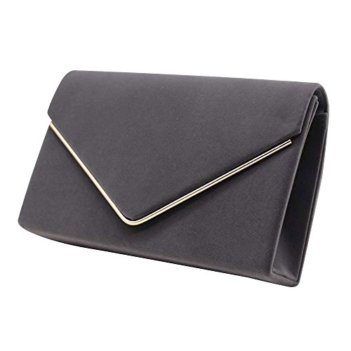 New UK Ladies Wocharm Velvet Post Womens Clutch Suede Evening Grey Prom Elegant Handbag Brand Bag Shoulder Envelope 6wd4q6