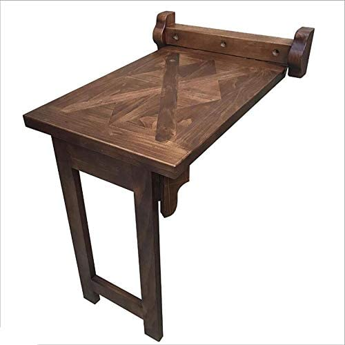 Tabla XIAOYAN Mesa de Comedor Plegables de Madera rústica de la ...