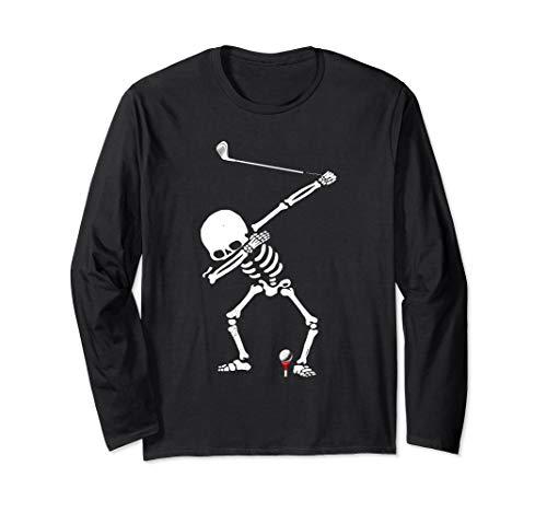 Brassie Cart (Dabbing Golf Skeleton! Funny Golfer Long Sleeve T-Shirt)
