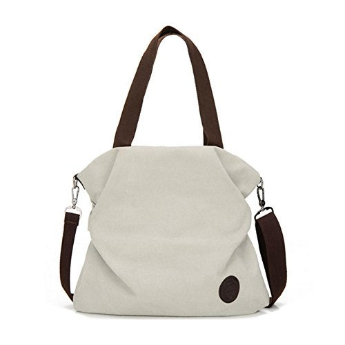 Women Canvas Shoulder Bag Crossbody Bags Ladies Satchel Messenger Bag Tote Handbag with Adjustable Strap