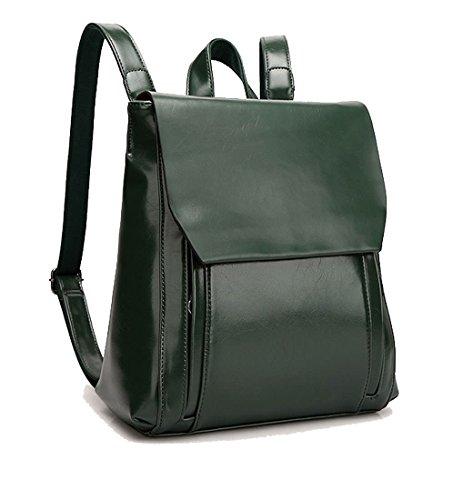 bandolera Ejército Bolsa Para escolar Verde Del Burdeos Mochila de Bolsos mochila Cuero portátil para Carteras mano mujer Bolsos T11FqwBC