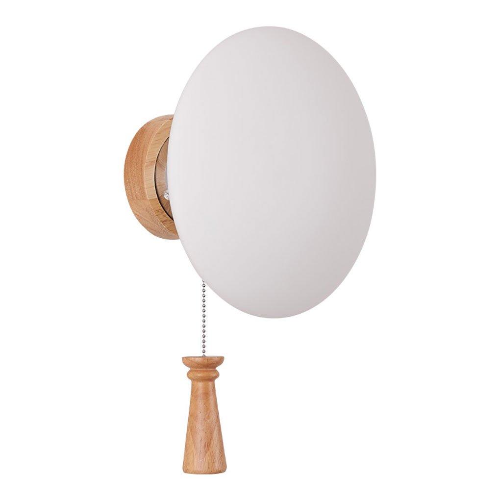 Wandleuchte, Modernen minimalistischen led Holz wandleuchte schlafzimmer Nachttischlampe Japanischen stil Kreative studie treppe Mit kabel schalter licht E14 Haushaltsbeleuchtung (Farbe   One pair)
