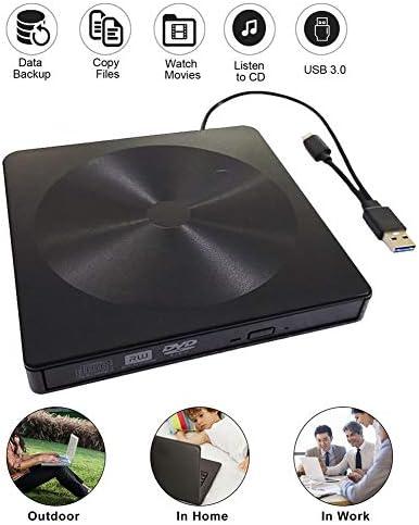 DVDドライブ USB 3.0タイプC外部光がDVD VCDバーナープレーヤー光学ドライブ外付けDVDドライブのラップトップをドライブ JPLJJ