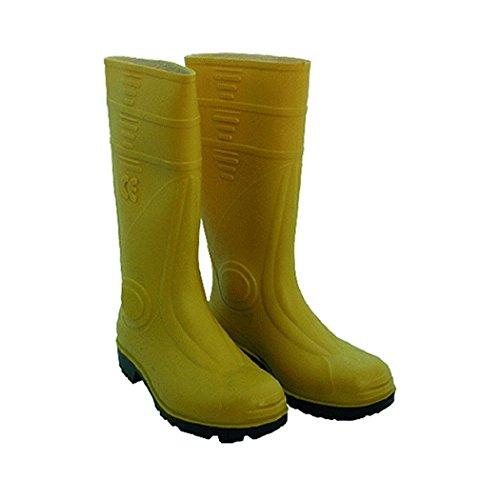Botas de trabajo de prevención de accidentes en amarillo S5 PVC con puntera y el laminado- 6206401Y
