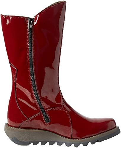Chukka Botas London Rojo Burgundy para Fly Mes Mujer 2 024 wZITxUnq