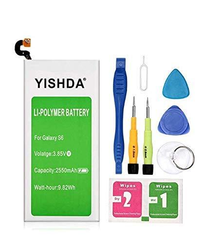Bateria Celular Galaxy S6 Yishda 2550mah Li Polymer Eb Bg920abe Para Samsung Galaxy S6 Sm G920 G920a G920p G920t G920v C