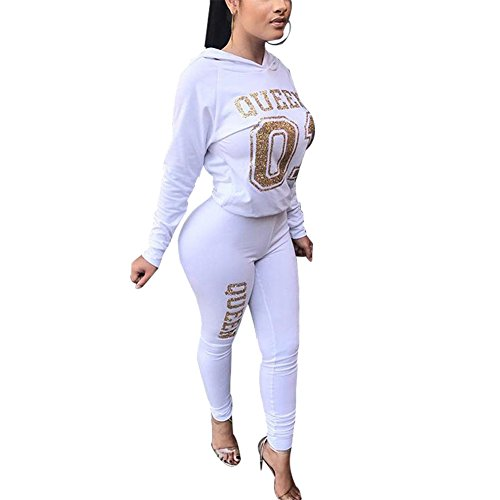 Queen Outfit - Women's 2 Piece Outfits Active Tracksuit