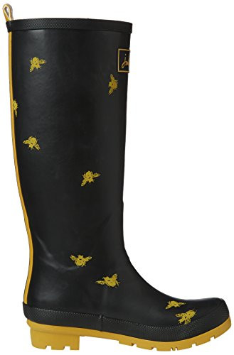 Black Joules Women's Rain Boot Print Bees Welly qOHXwO4
