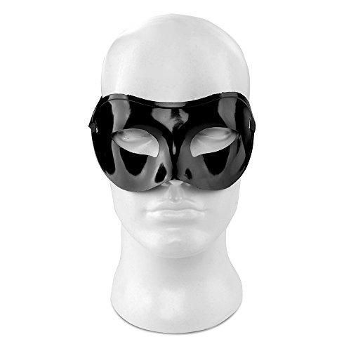 [Flexzion V Venetian Mask Mardi Gras Masquerade Paper Mache Male Men with Flexible Tie For Costume Ball Porm Dance Wedding Party Home Decor in Vivid] (Male Masquerade Mask)