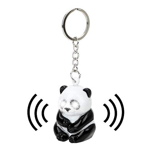 Bag Pendant Car Keychain Keyring Birthday Gift Cute Panda Key Ring Key Chain Auto Accessories with Flashlight and Sound