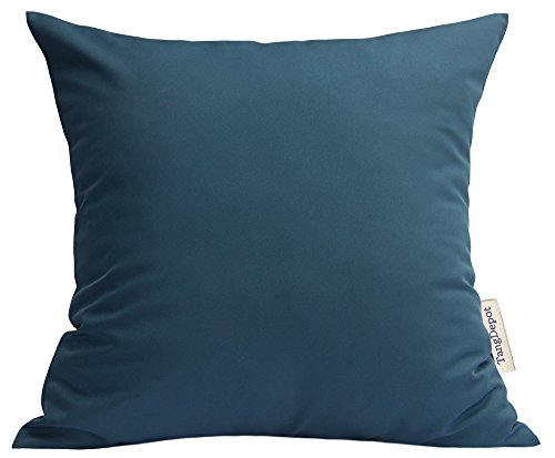 TangDepot Durable Faux Silk Solid Pillow Shams, Square Decorative Pillow Covers, Throw Pillow Covers, Indoor/Outdoor Cushion Covers Pillows Shells - (22