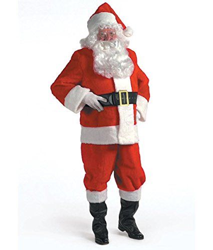 Halco Holidays Complete Santa Claus Christmas Suit, 10 Pieces, Standard 50-56 Size - Santa Clause Suit
