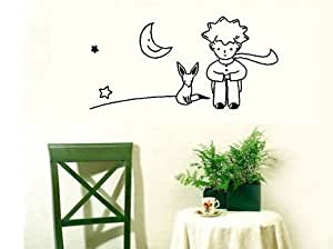 dail inming the little prince fox moon star decor mural art wall sticker decal43 x 26 cm by. Black Bedroom Furniture Sets. Home Design Ideas