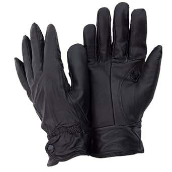 Ladies/Womens Genuine Leather Gloves (M/L) (Black)