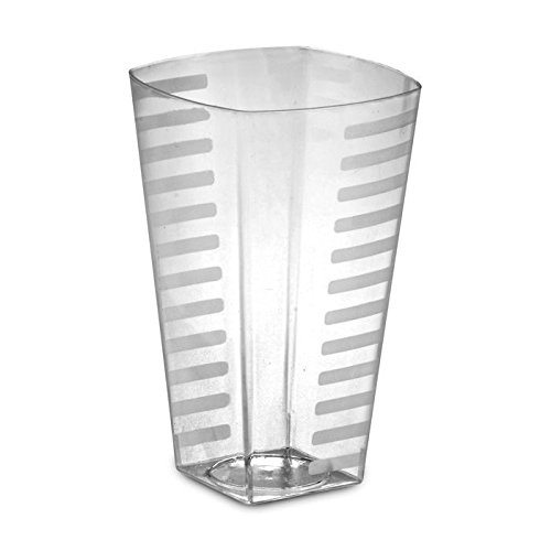 Extra Heavyweight Tumbler - EMI Heavyweight Disposable Plastic Tumblers Crystal Clear Rock Tumblers, Squat Tumblers, or Tall Tumblers 168 Glasses, Party Cups (14 oz)