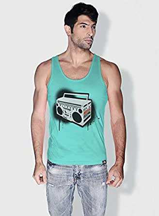 Creo Music Radio Trendy Tanks Tops For Men - Xl, Green