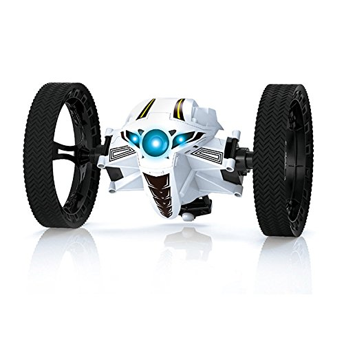 TOYEN GordVE Remote Control Bounce Car 2.4GHz RC Jumping Car 360 Degree Rotation Stunt Car Toy With 3 LED Lights And Music-White