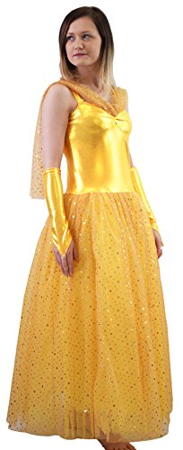 World Book Day-Stage-Theatre-Pantomime-Fairy Tale-Beauty And The Beast- BALL GOWN/BELLE COSTUME - All Children's Sizes (AGE 7-8) (Fairy Tale Theater Beauty And The Beast)