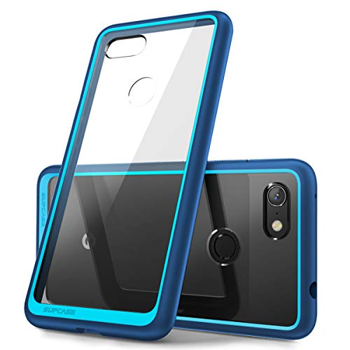 Style Clear Bumper - SUPCASE Unicorn Beetle Style Series Design for Google Pixel 3a XL Case, Clear Soft Protective TPU Bumper PC Premium Hybrid Case for Google Pixel 3a XL 2019 Release (Navy)