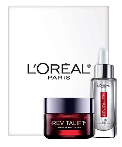 41fiubiG%2B5L - L'Oreal Paris Skin Care Revitalift Hyaluronic Acid Facial Serum and Triple Power Face Moisturizer Anti-Aging Skin Care Set, 1 Kit